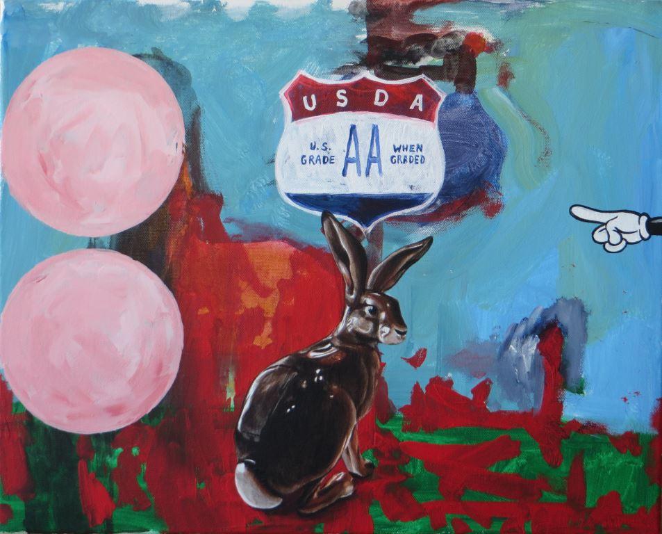 Andreas Amrhein, Grade AA, 2014, Acryl auf Leinwand/acrylic on canvas, 40 x 50 cm