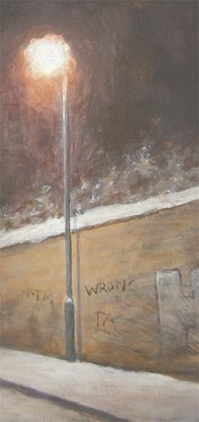 "Niels Sievers, Detail: ""silence (may way home)"" , 2014, Öl auf Leinwand / Oil on canvas, 110 x 80 cm"